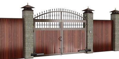 ДорХан распашные ворота