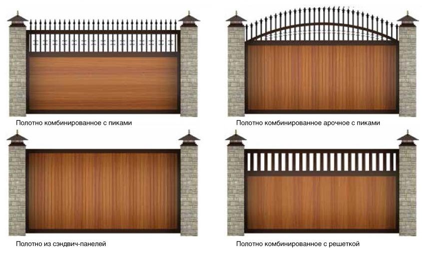 уличные красивые ворота