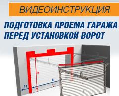 инструкция подготовка проема гаража